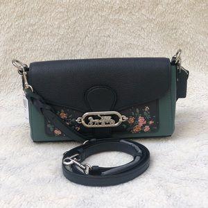 COACH Crossbody Bag Jade/Rose Detailing